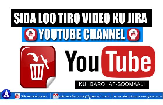 VIDEO: Sida loo masaxo/deledo Video You Tube Channel